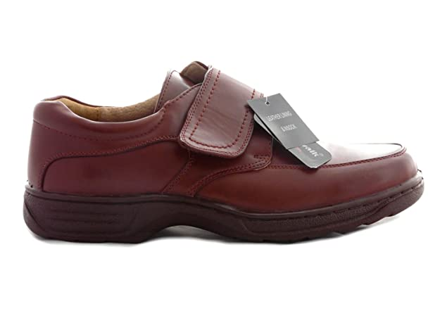 Cushion Walk Hombre Ligero, Zapatos de Casual Slip On y Touch Cerca Bar Correa, Color Negro, Talla 42