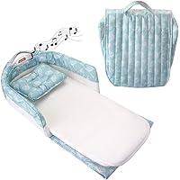 UPPEL Lits bébé lit voyage enfant lit bebe avec matelas avec lecteur de musique et veilleuse lit bebe pliant lit nomade bebe