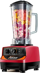 Aistan Professional 5200 Series 110V 2200 Watts Kitchen Blender Mixer Portable Food Mixer Blender, Professional-Grade, 2 Liters Container BPA FREE 3HP, Total Crushing Technology with up to 45000 RPM Speed for Smoothies,Ice and Nut, Red