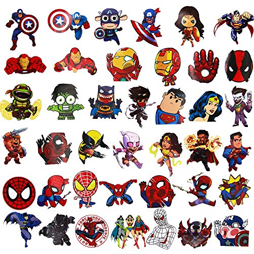 Laptop Stickers for kids(100pcs),Superheros Stickers for Water Bottles,Vinyl Stickers for Laptop Skateboard Luggage Decal Graffiti Patches Stickers in Bulk