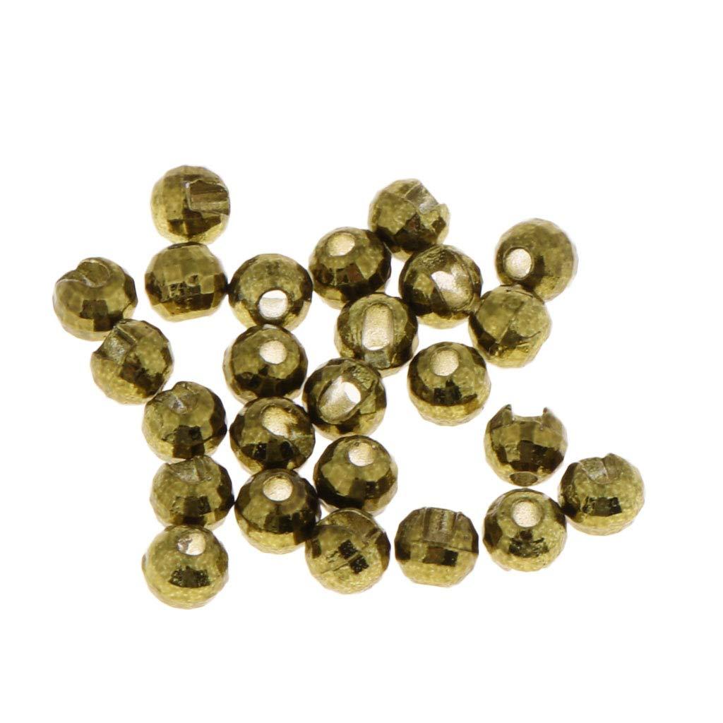B Baosity 25pcs Perles de Tungstèn Fente de Mouche Kit de Montage 5mm