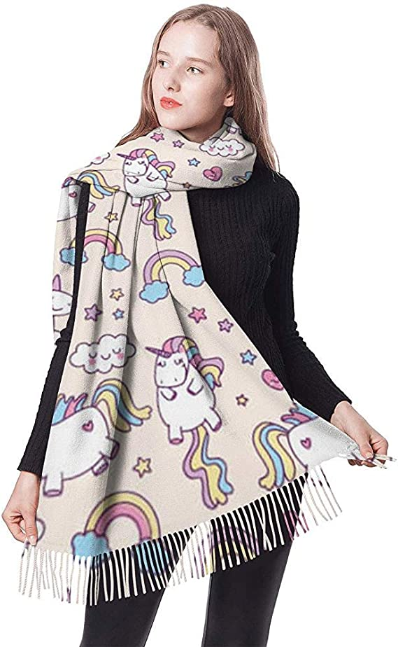 Dora Will Love Unicorn Rainbow Bufandas de mujer Bufanda