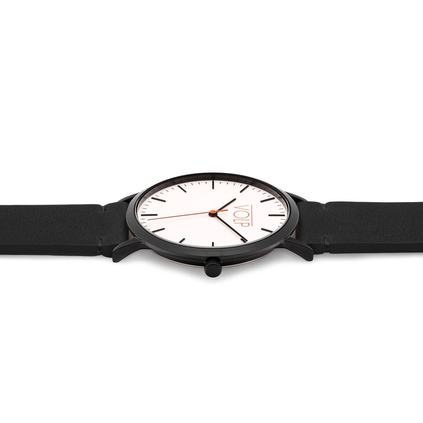 Reloj Vegano Unisex de Pulsera. VOLP Negro/Negro, de Acero Inoxidable (42 mm). Correas Intercambiables de Piel Vegana.: Amazon.es: Relojes