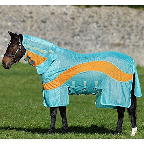 Horseware Amigo Evolution Fly Sheet 75 Aqua/Orange by Horseware