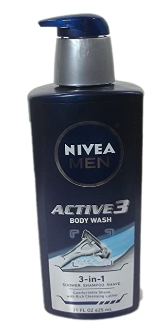 9fe657eda962 Amazon.com: 2 Pk. Nivea Men Active 3 Body Wash, Shampoo, Shaving Gel ...