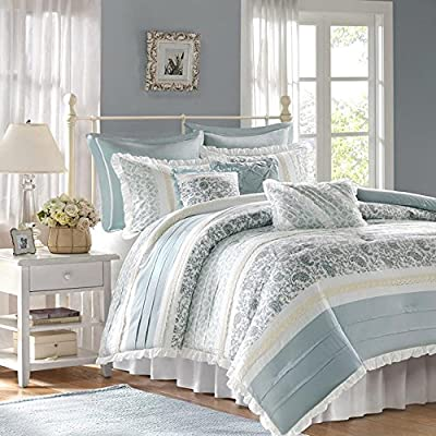 Madison Park Dawn 9 Piece Cotton Percale Comforter Set