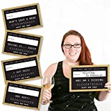 Big Dot of Happiness Gold New Year's Eve Party Mug Shots - New Years Resolutions Photo Booth Props Party Mugshot Signs - 20 Count