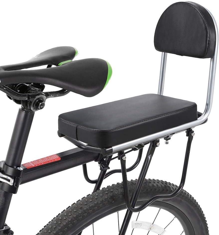 DYHQQ Asiento Trasero de Bicicleta MTB Cuero PU Cojín Suave ...