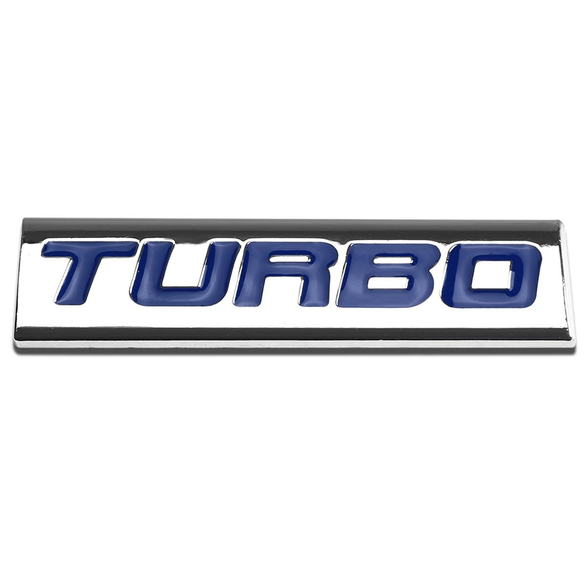 Red LetterTurbo Logo Metal Decal Emblem