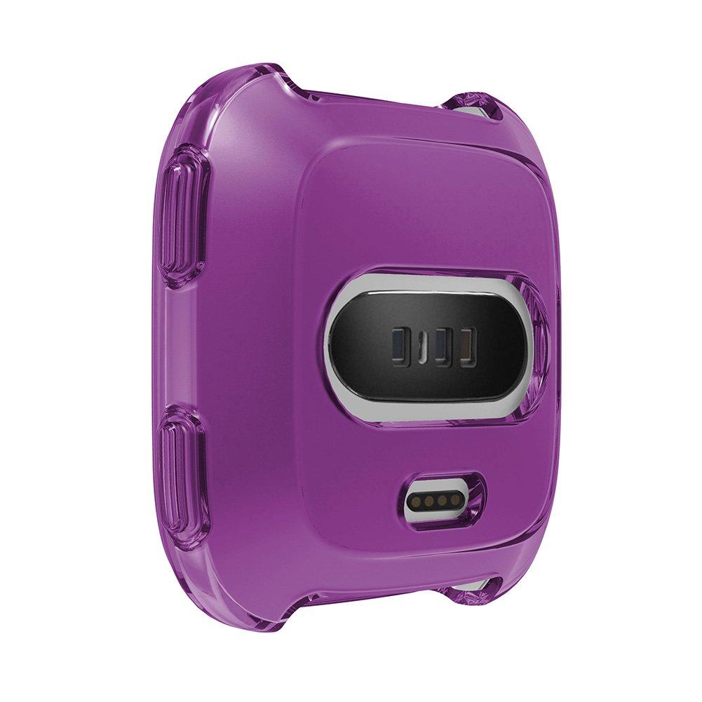 Amazon.com: qiaoW Funda protectora de silicona suave de 5 colores para Fitbit Versa Actividad Reloj inteligente Accesorios Funda de carcasa protectora ...