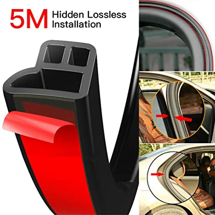 Omufipw Automotive Rubber Seal Strip Self Adhesive Weather Strip Car Window Door Trim Edge 20m L Shape