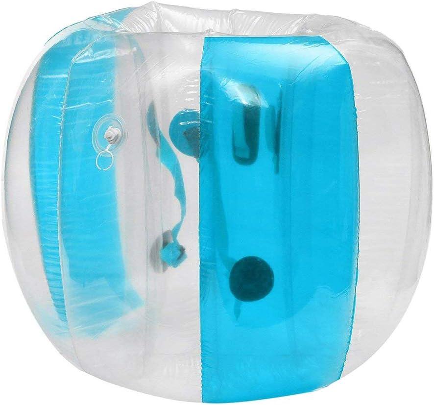 YANGMAN Bola de Parachoques Bolas de Zorb Bola de PVC Inflable Bola de fútbol Humano Bola de hámster para Adultos y niños Jugando Bull Rush Etc Games,Blue,120cm/47.2in