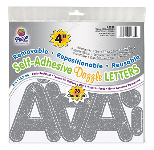 Silver Letters - Pacon 4