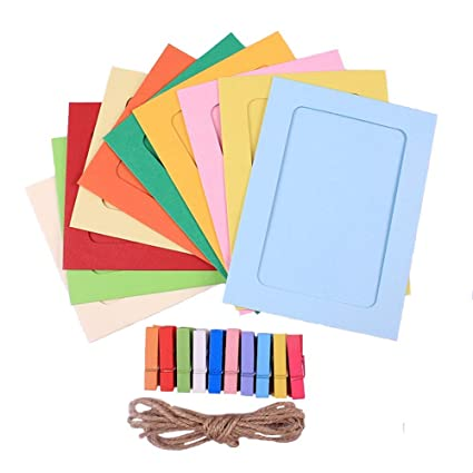 Amazon Com Paper Photo Frame Diy Photo Frame Wall Deco With Clips