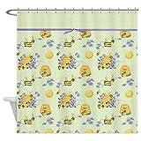 CafePress Honey Bee Dance Shower Curtain Decorative Fabric Shower Curtain (69''x70'')