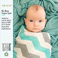 4 Swaddle Blankets by Baby Steps - 100% Organic Hypoallergenic Muslin Cotton ...