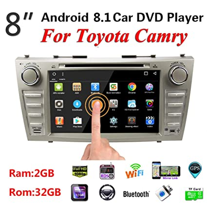 For Toyota Camry 2007-2011 Android 8.1 Octa 32GB+2GB 2Din Car GPS Stereo Radio Touch Screen 8 inch in Dash Auto Video Multimedia CD DVD Mp3 Mp5 Player with ...