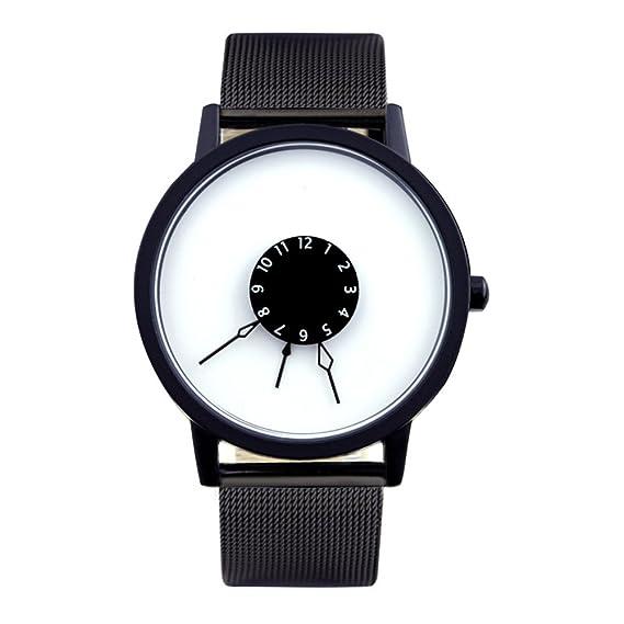 segunda mano de subversión y creativo reloj/Puntero tejido de acero único ángulo invertido de