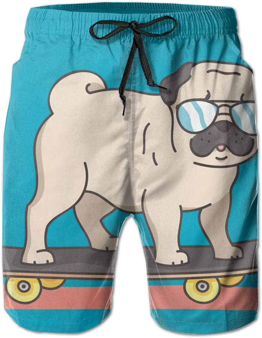 Swimming and Other Marine Sports Hateone Beach Shorts Dog Puppy Doggy Mens Swimming Pants Suitable for Surfing