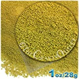 The Crafts Outlet 1-oz/28-g Metallic Finish, Glass, Microbeads 0.6mm, Ideal for Caviar Nails, Metallic Gold