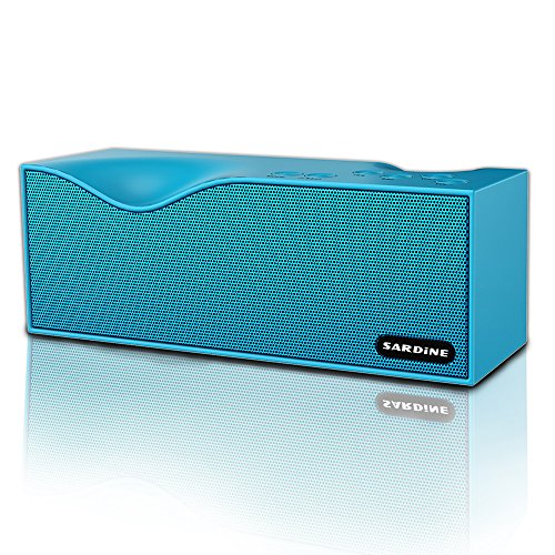 Sardine Portable Wireless Bluetooth Speakers with FM Radio, Support TF card ,Powerful Sound Bluetooth Speaker for Apple iPhone, iPad, Samsung GALAXY Series, Bluetooth Speaker with Enhanced Bass(Blue) by SARDINE