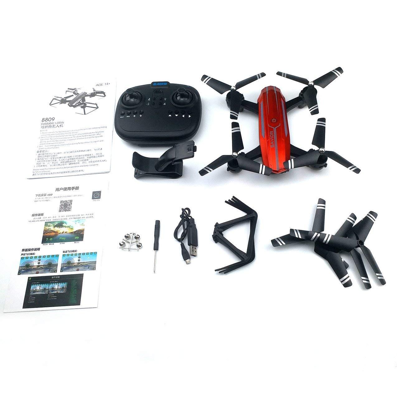 Folding Drone 30W Camera APP Remote WiFi Maintaining Altitude Quadcopter