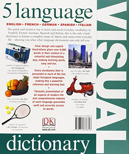 5 Language Visual Dictionary (English, German, French