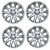 #4: TuningPros WSC3-503S15 4pcs Set Snap-On Type (Pop-On) 15-Inches Metallic Silver Hubcaps Wheel Cover