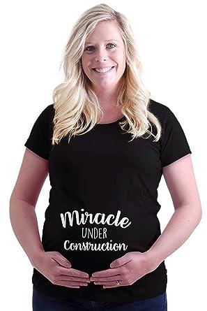 d0ede1aa1bb8b Brisco Brands Miracle Construction Pregnant Maternity Maternity T Shirt  Black