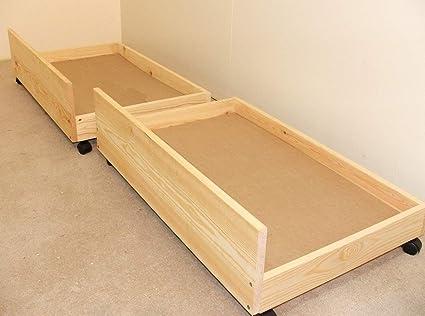 Cajones de almacenamiento debajo de la cama–Set de dos cajones