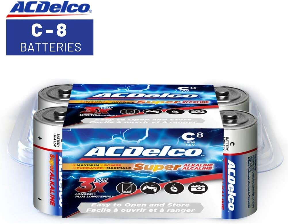 ACDelco D Batteries 12 Count Pack Super Alkaline Battery