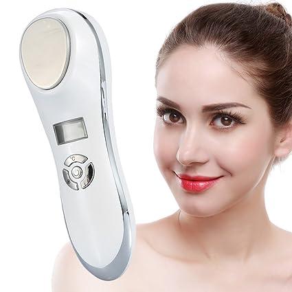 Masajeador facial anti-arrugas y relaja la cara con vibración de alta frecuencia con una