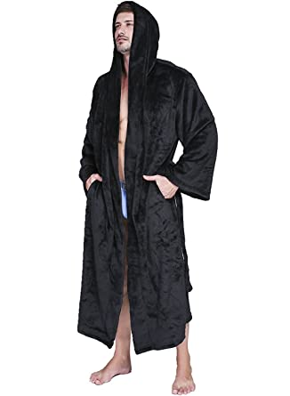 VERNASSA Men s Dressing Gown Bathrobe Satin Sleepwear 202bb9ae0154