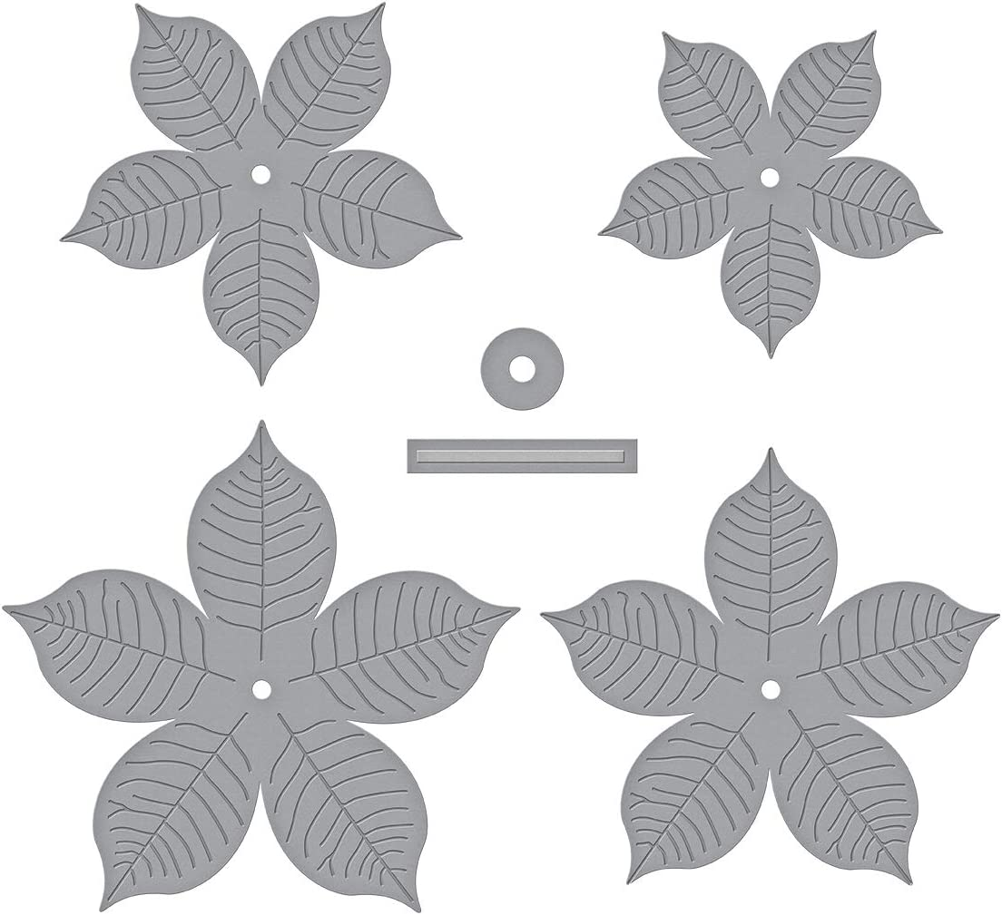 Spellbinders Shapeabilities Cinch and Go Poinsettia Etched/Wafer Thin Dies, Metal