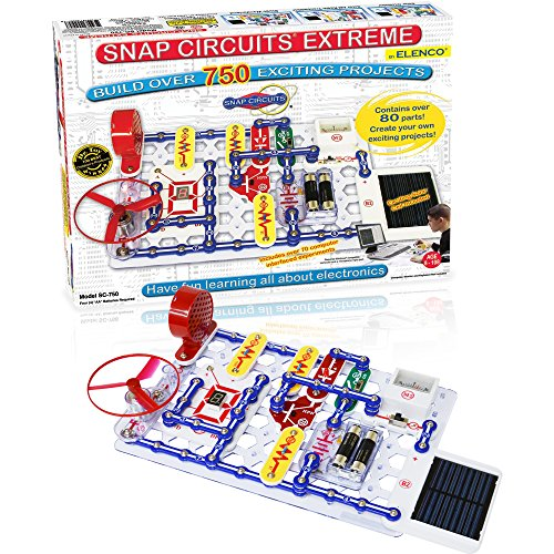 (Snap Circuits Extreme 750-in-1 with Computer Interface and Student & Teacher Guides | Great for STEM Curriculum | No Storage Case | Electronics Discovery Kit)
