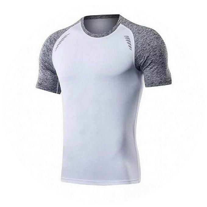 meilleur service 03e94 156f0 Amazon.com: 2019 Shirt Homme Running Men Designer Quick Dry ...
