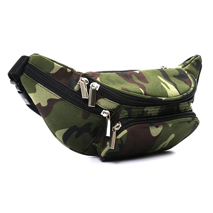 2er Pack Bauchtasche Gürteltasche Hüfttasche Fächer Tasche camouflage schwarz AS