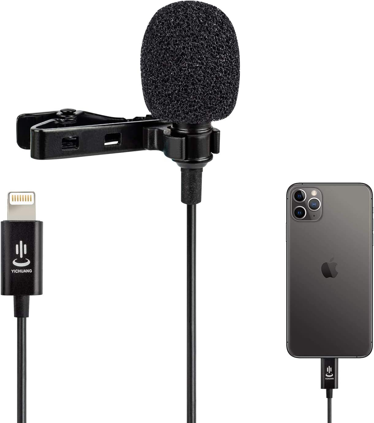 Amazon Com Professional Lavalier Lapel Microphone Omnidirectional Condenser Mic For Iphone 7 7 Plus 8 8 Plus 11 11 Pro 11 Pro Max Iphone X Xs Xr Youtube Vlogging Facebook Interview Livestream Video Recording Musical Instruments