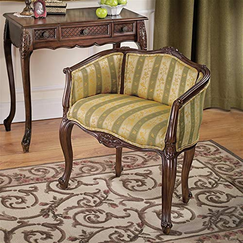 Design Toscano The Marguerite Petite Bergere Fabric Arm Chair