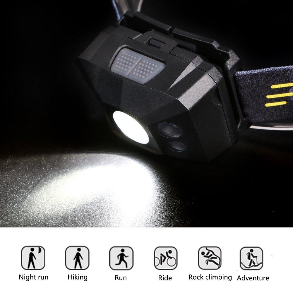 f/ür Kinder und mehr Linkax LED Stirnlampe Kopflampe USB Wiederaufladbare Mini stirnlampen Wasserdicht Leichtgewichts Perfekt f/ürs Laufen,Joggen Campen Angeln
