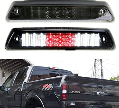 iJDMTOY Smoked Lens Full LED High Mount Third Brake//Stop Light Assembly Compatible With 1999-2016 Ford F-250 F-350 Super Duty /& 1995-2003 Mazda B-Series