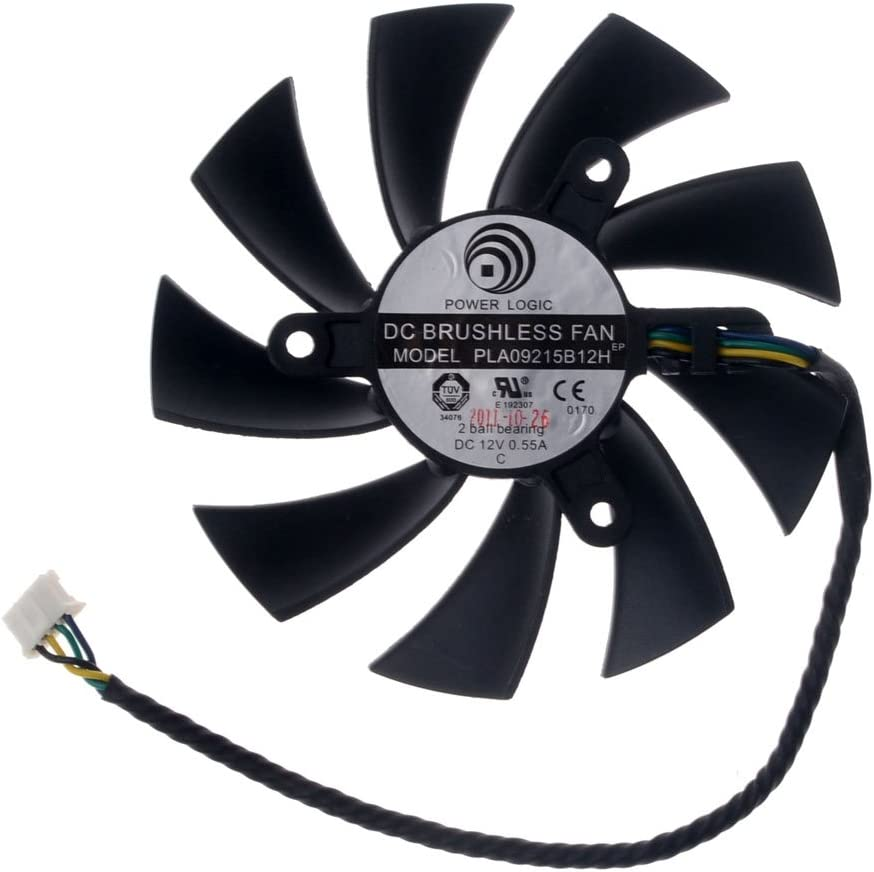 PLA09215B12H Graphics Card Fan 87mm DC 12V 0.55A 4-Pin Cooling Fan for MSI N560 570 580GTX HD6870