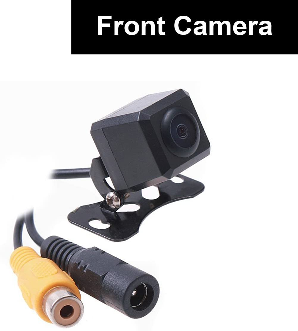 Car Auto Front View Camera Forward Cam Screw Bumper Mount Universal Fit Non-Mirror Image w o Grid Lines Parking Assistance 12V