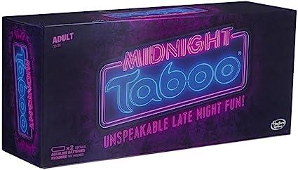 Hasbro Gaming Midnight Taboo Juego de Mesa para Adultos; Divertido y Divertido Juego de Fiesta para Adultos; Juego de diversión indescriptible, para 4 o más Jugadores: Amazon.es: Juguetes y juegos