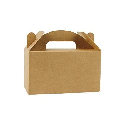 LaRibbons 24 Pack Brown Color Treat Boxes Birthday Party Favors Shower  Favor Box, 4u0026quot;