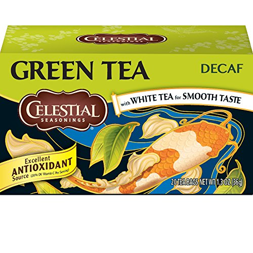 Celestial Seasonings, Green Tea, with White Tea, Decaf, 20 count