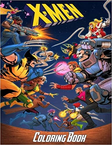 Amazon.com: X-Men Coloring Book: Coloring Book for Kids and Adults ...