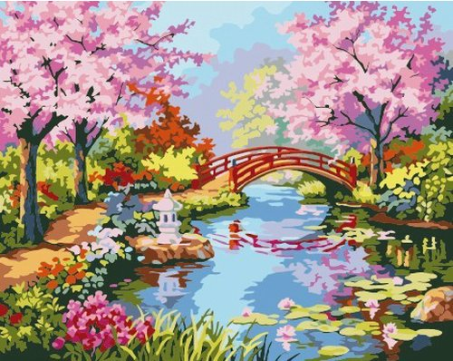 Diy oil painting, paint by number kit- Spring in the South Yangtze 1620 inch. ()