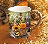 Summer Bouquet Sculpted Mug by Rosemary Millette