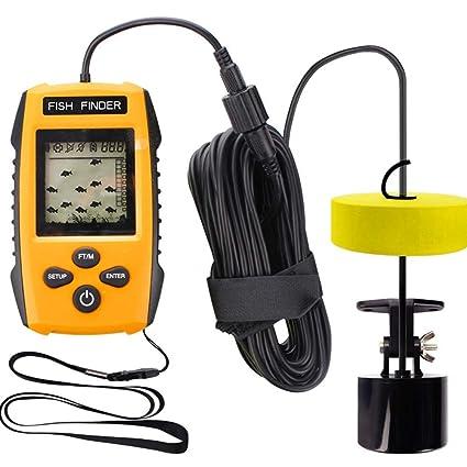 YTBLF Sonar de Pesca portátil, Detector Inteligente bajo el Agua Pantalla LCD Detector de Peces